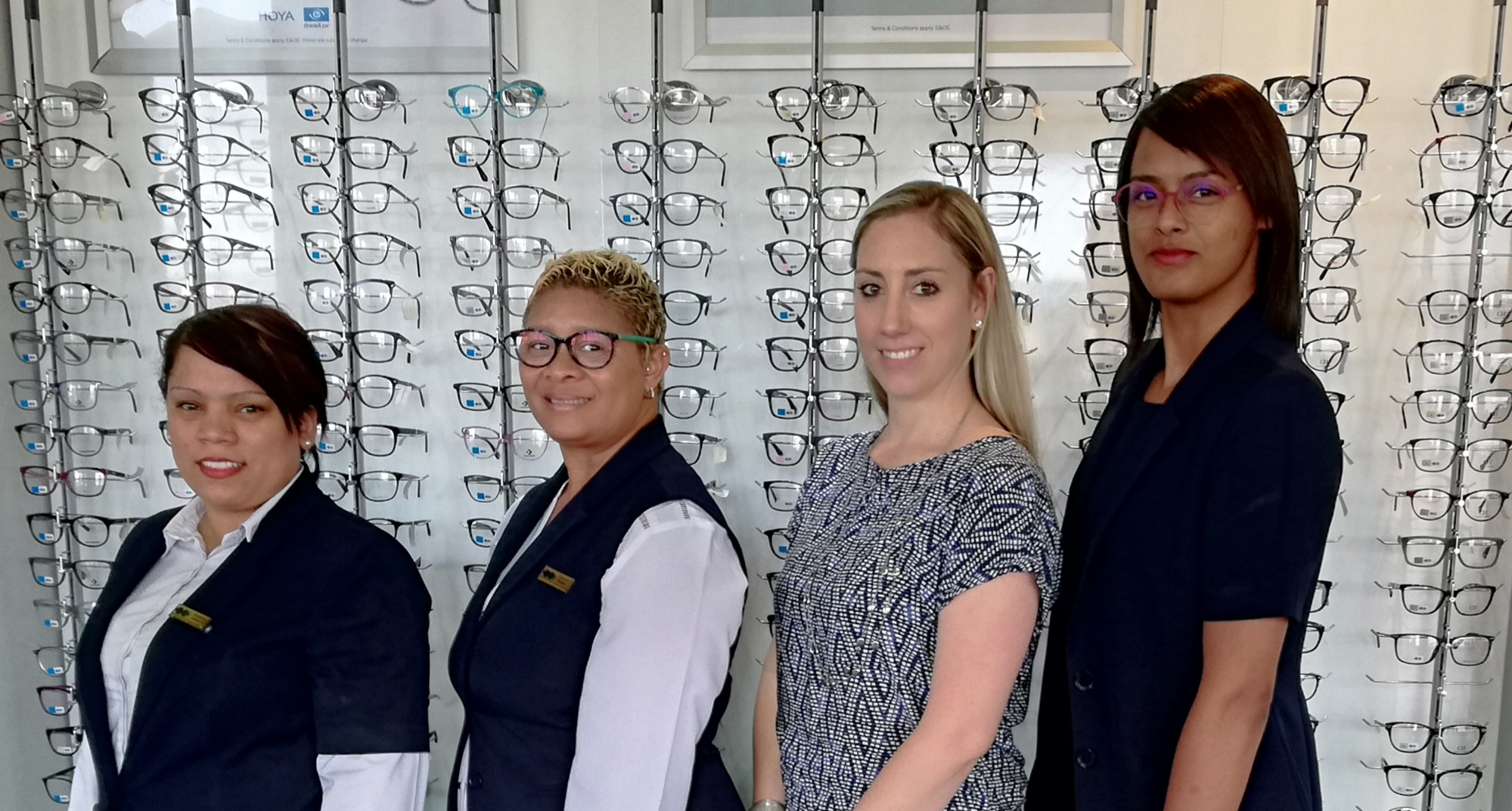 Chantel Jonkers, Desiree Daames, Chanteléze Brockett and Ruwaida Koran is our friendly team at Specsavers Brackenfell in Fairbridge Mall. This ladies believe in quality optical care.