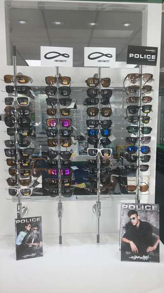 Quality sunglasses on display