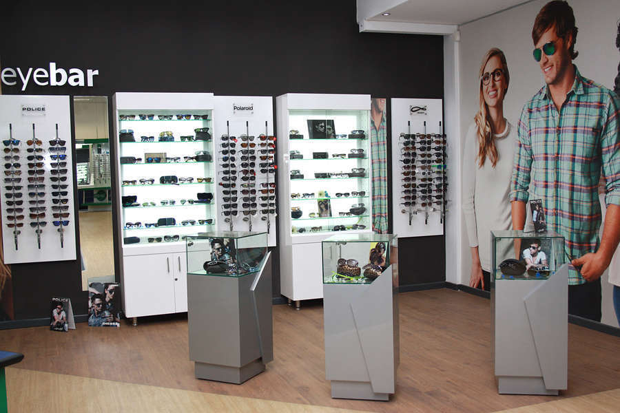 Eyebar Sunglass section