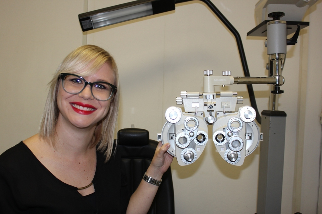 Olivia Lowry our optometrist