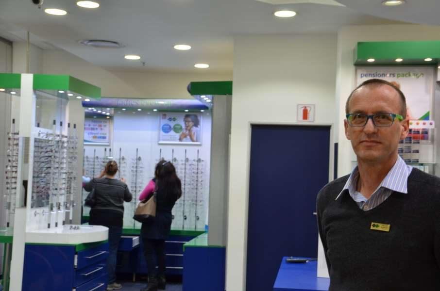 Philip Duminy (Optometrist) at the front of the store