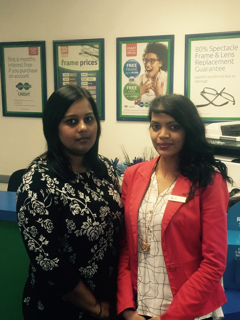Managing Optometrists: Ashmita Parmanand (Left) and Benita Singh (Right)