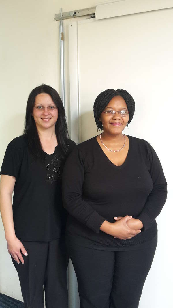 Frontline staff: Innocentia and Trudie