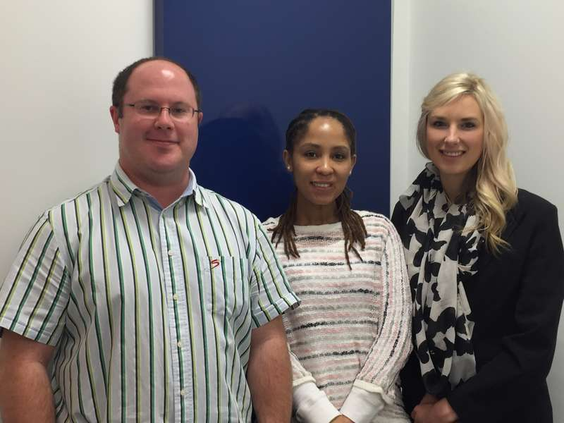 Our onsite Optometrists -  From the left: Jan Jansen, Jowie Lion, and Melanie Nortje