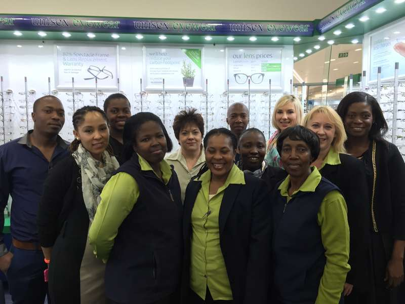 From left: David, Jowie, Ednar, Zandile, Magda, Wileminah, Connie, Thabiso, Cathy, Melani, Belinda, and Portia