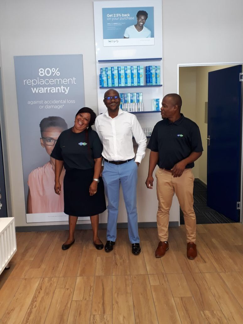 Our Happy Team, Dorothy, Mike and Blessing