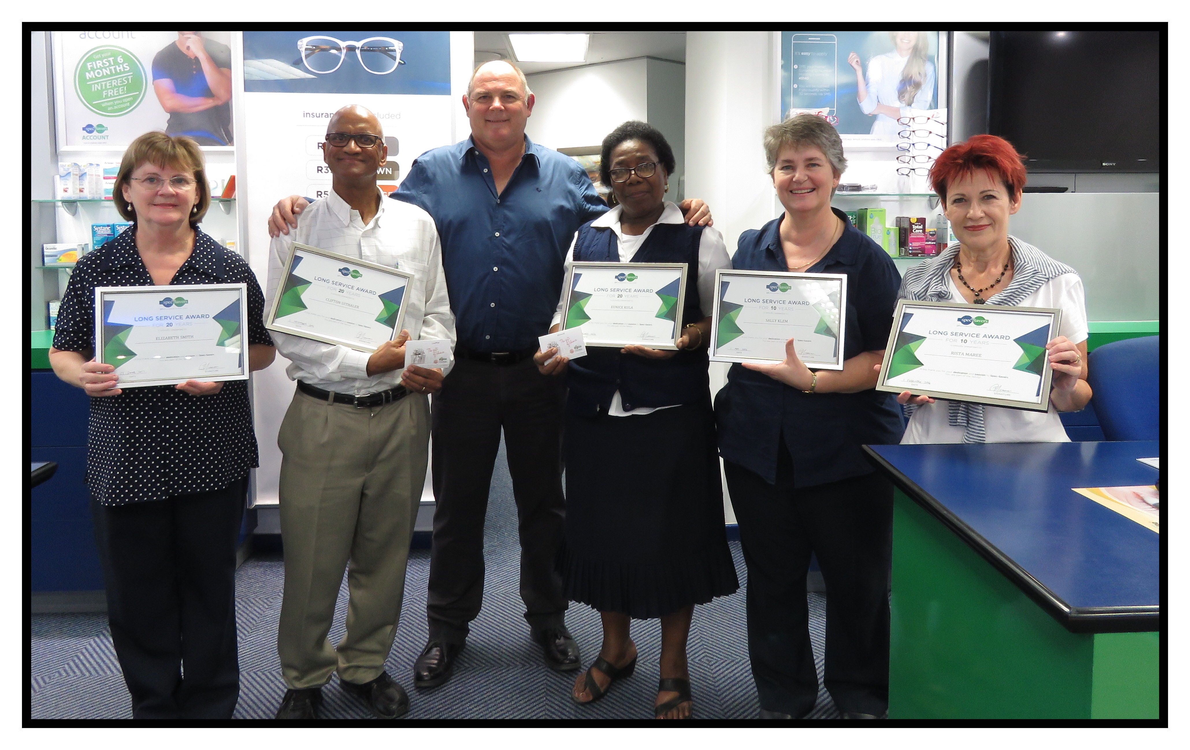 Awarding our long serving staff for 10 and 20 years of dedication and hard work.