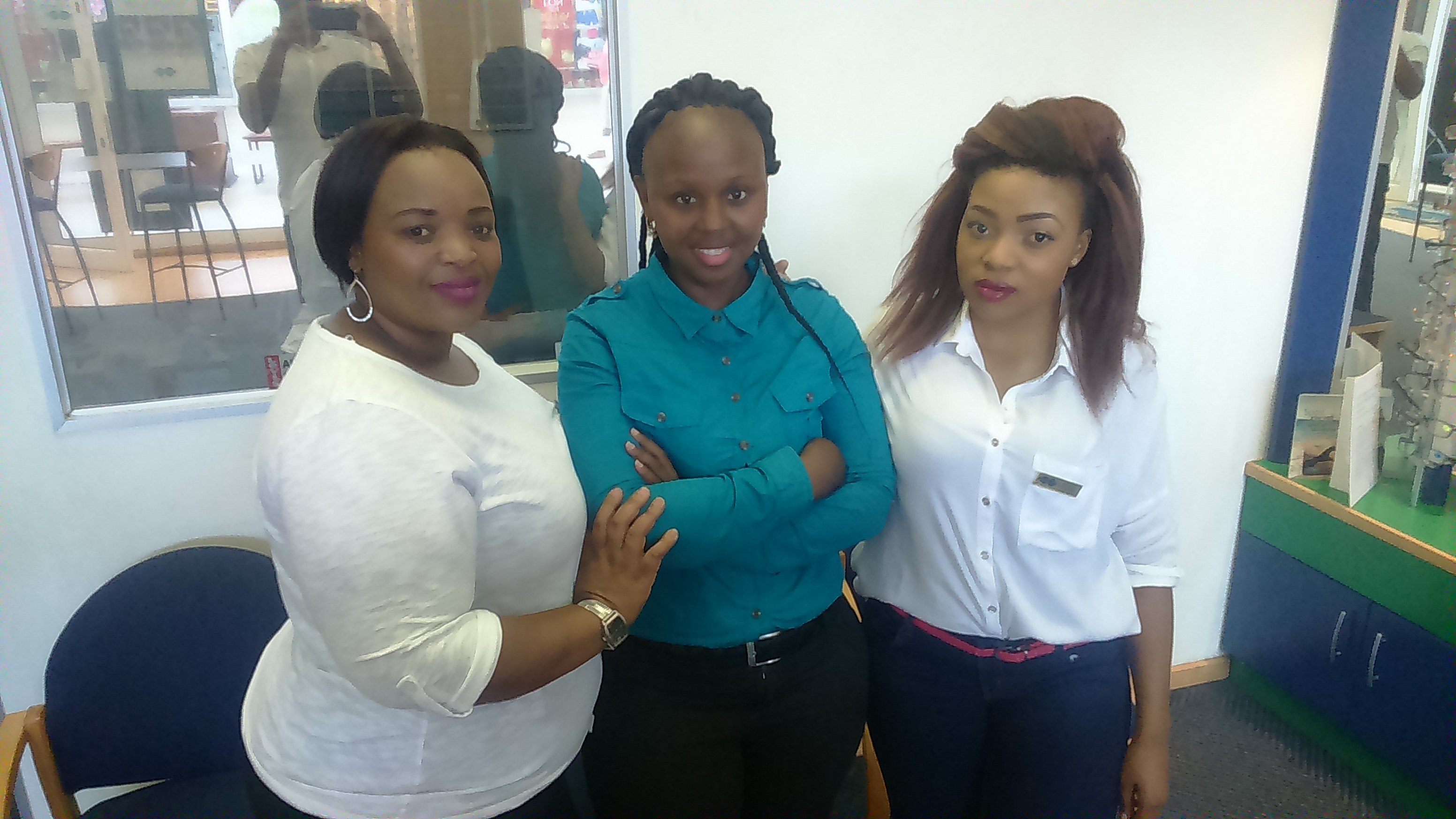 Meet our lovely staff, from left to right: Hlengiwe, Noxolo and Khauhelo