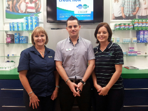 Vanessa Weir (Debtors Clerk), Angelo Mendes (Optical Assistant) and Jocelyn de Milander (Practice Manager)