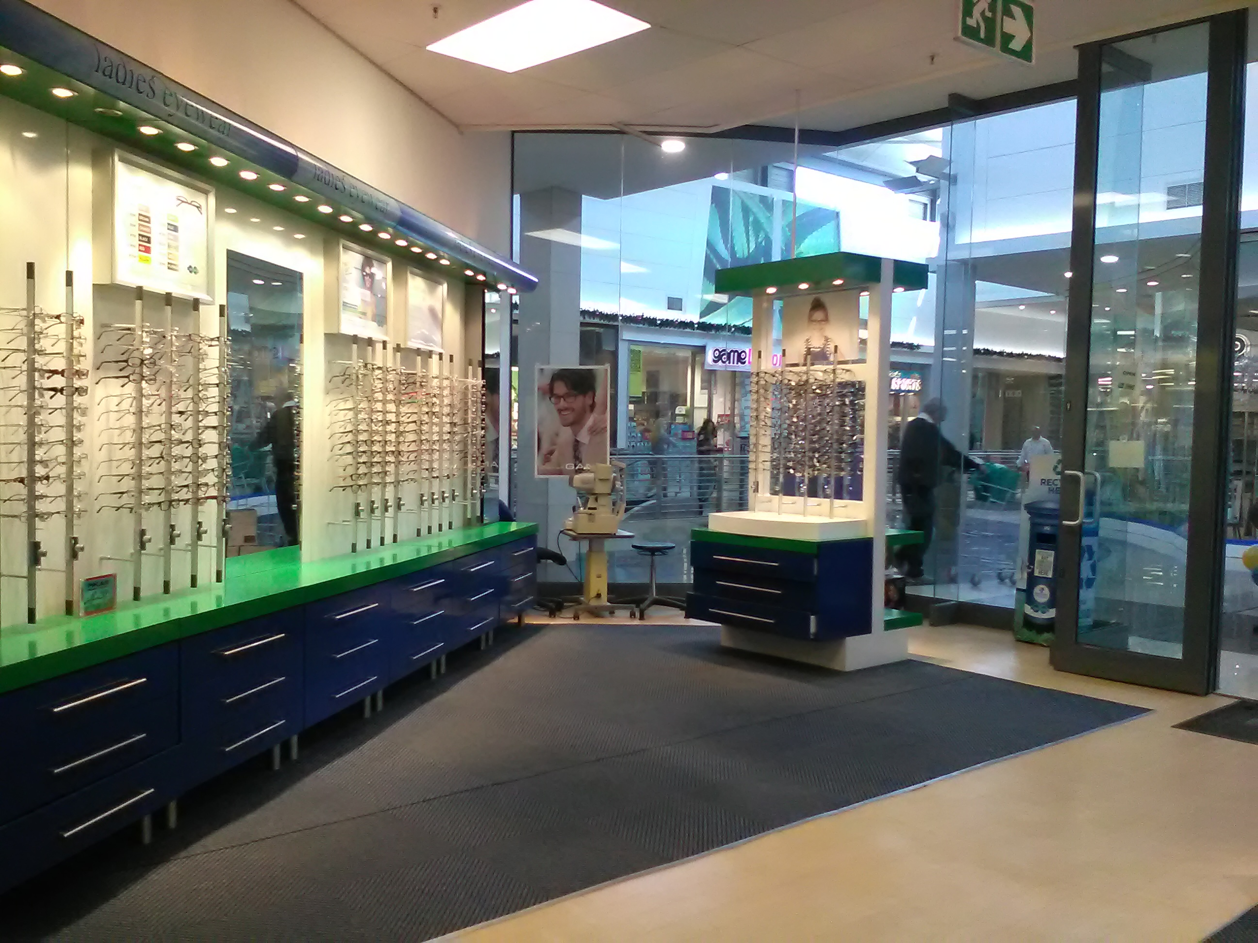 The inside view of our store and display cabinets