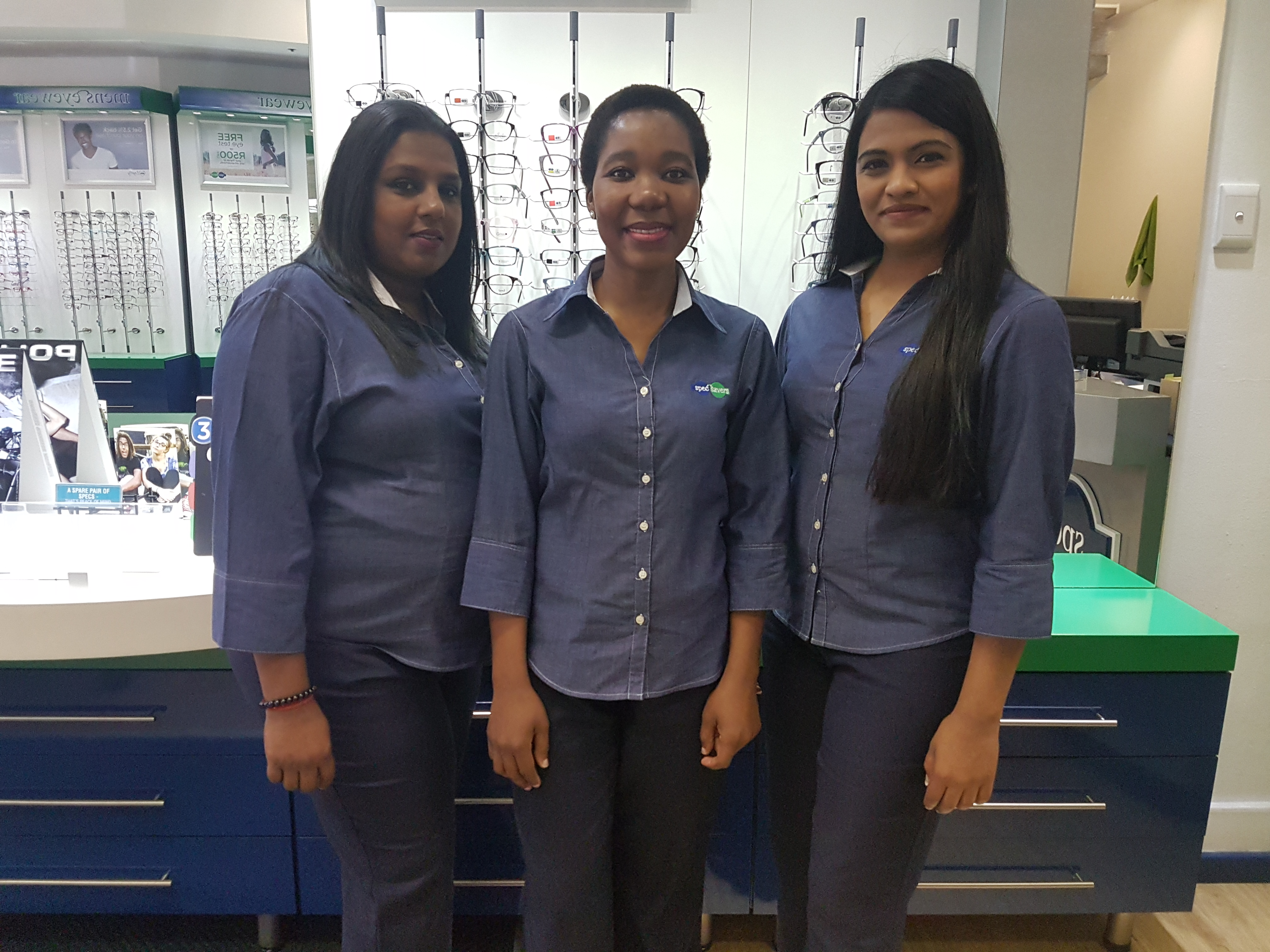 From left: Frontliners - Ashika Ramdass, Fortunate Mdima and on the right: Manager - Prenisha Inderjith