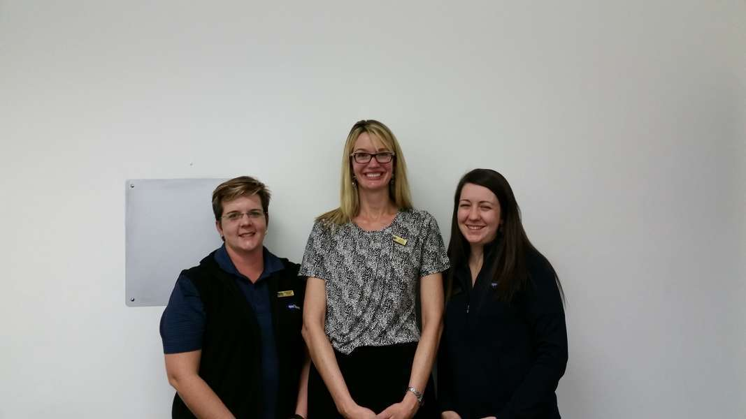 Optometrists Annarien Wisse, Kathy Winter and Teresa Wouda from left to right