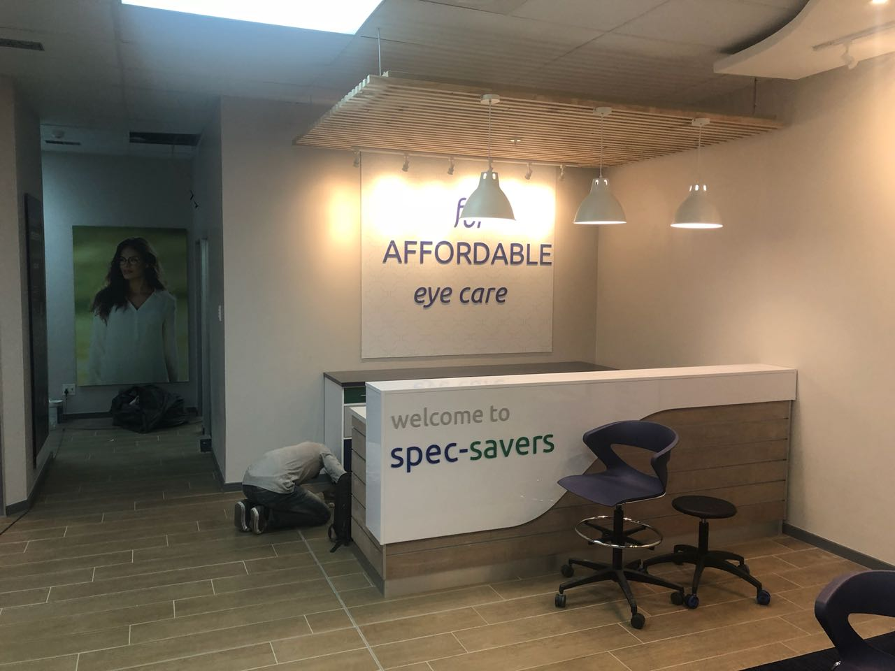 Sneak preview of  the new look for Spec-Savers Westgate opening 27 August 2018
