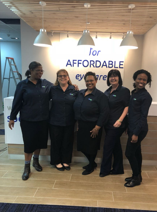 The friendly frontline staff (from left to right) - Maria Sitoma, Ronel Smith, Claire Stafford, Marie Smith, Nene Nqobile. Always ready to assist you!