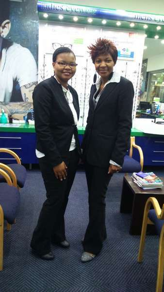 Olwethu and Patience, our Optometrists.
