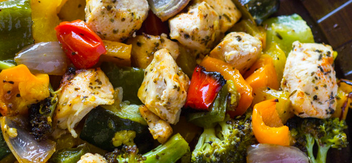 15 Minute Healthy Roasted Chicken and Veggies