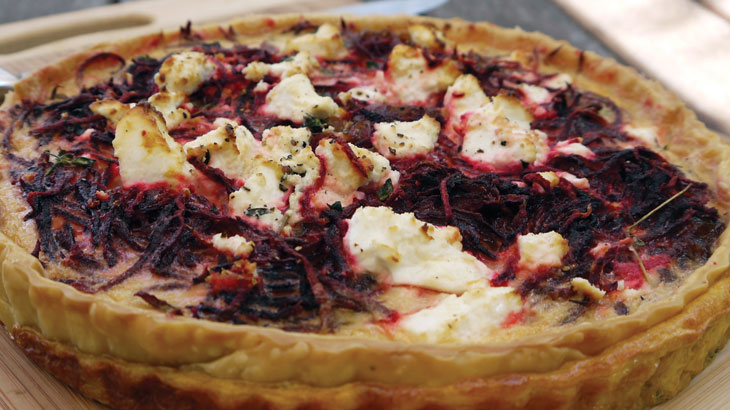 Beetroot & Caramelised Onion Tart