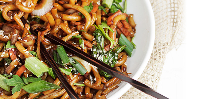 Spicy Vegetable Udon Noodles