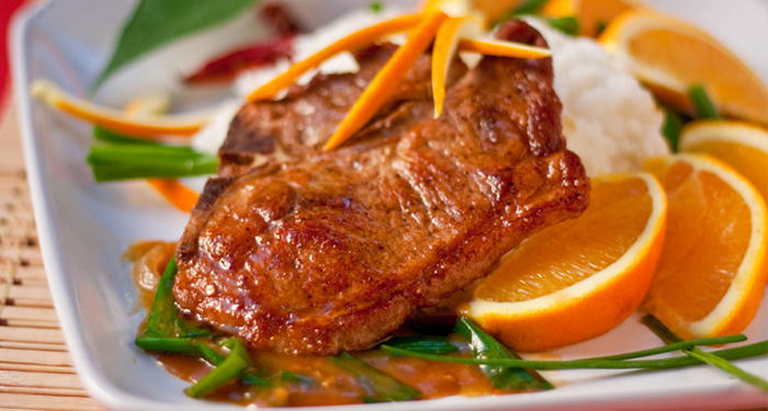 Pork Chops with Cumin and Orange