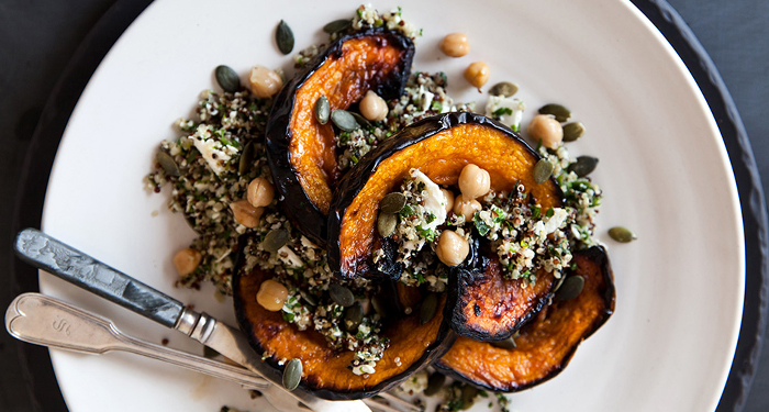 Quinoa, Roasted Pumpkin and Feta