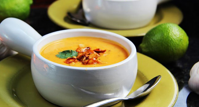 Roasted Carrot, Squash and Sweet Potato Soup