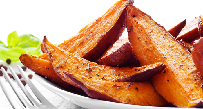 Oven Roasted Sweet Potato Wedges