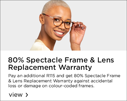 80% Spectacle Frame & Lens Replacement Warranty