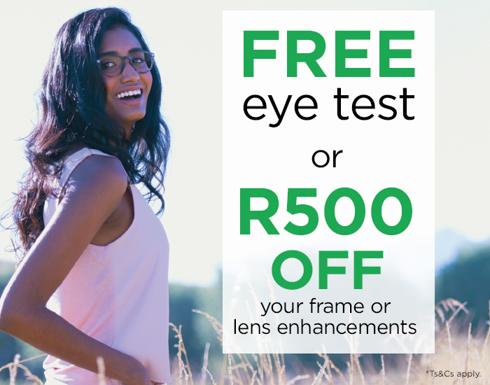 FREE Eye Test or R500 OFF